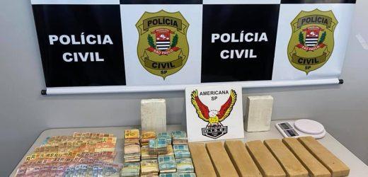 Operação localiza nove quilos de drogas em área verde