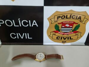 Relógio roubado Foto: Polícia Civil)